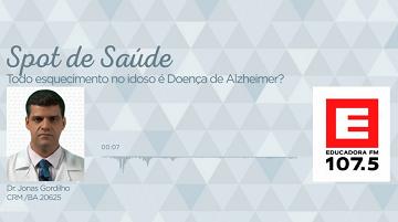 Todo esquecimento no idoso é doença de alzheimer