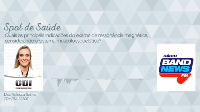 Quais as principais indicações do exame de ressonância magnética, considerando o sistema musculoesquelético?