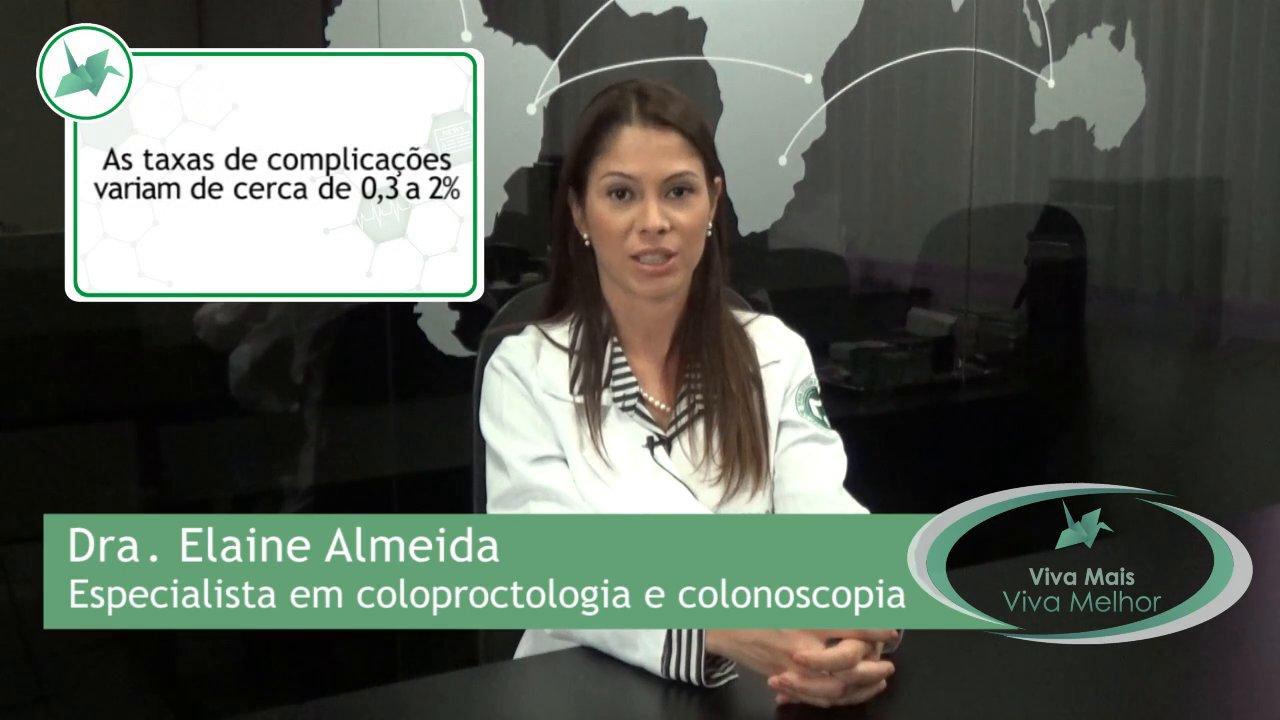 Quais as possíveis complicações e riscos da colonoscopia?