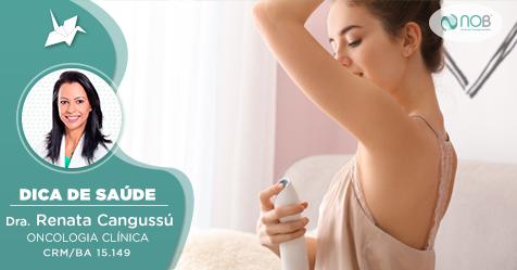 Mito ou verdade: Desodorantes causam câncer de mama?